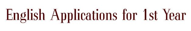 English applications, Application Samples, English Application Writing, Application Writing notes