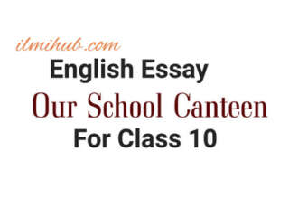 Essay on Our School Canteen for Class 10, Essay on My School Canteen for Class 10, Our School Canteen Essay