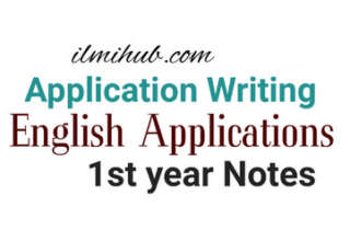 applications for 1st year, English applications for 1st year, Class 11 English Applications notes