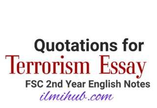 Terrorism Quotations, Quotations for Terrorism in Pakistan Essay, Quotations for Terrorism Essay